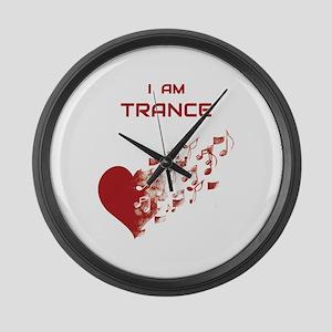 I am Trance Heart Large Wall Clock