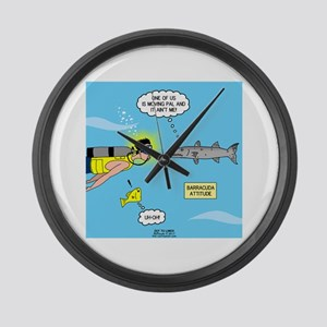 Barracuda Attitude Large Wall Clock