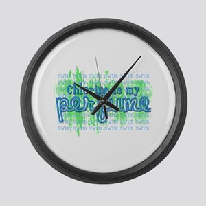Chlorine is my Perfume (3 des Large Wall Clock