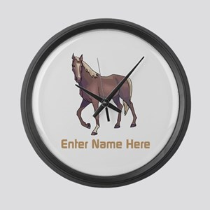 Personalized Horse Large Wall Clock