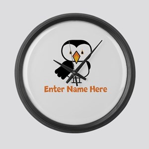 Personalized Puffin Large Wall Clock