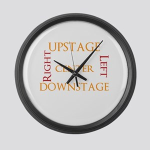 Stage Directions! Large Wall Clock
