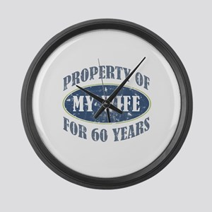 Funny 60th Anniversary Large Wall Clock