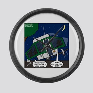 Pop-up Camper Problems Large Wall Clock