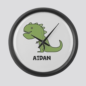 Personalized Dinosaur Large Wall Clock