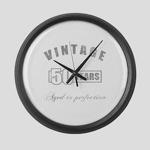 Vintage 50th Birthday Large Wall Clock