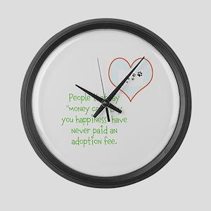 adoption happiness Large Wall Clock