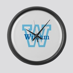 CUSTOM First Initial and Name Large Wall Clock