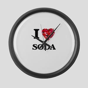 I love Soda Large Wall Clock