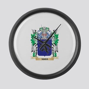 Abba Coat of Arms - Family Crest Large Wall Clock