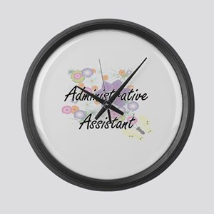 Administrative Assistant Artistic Large Wall Clock