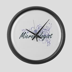 Microbiologist Artistic Job Desig Large Wall Clock