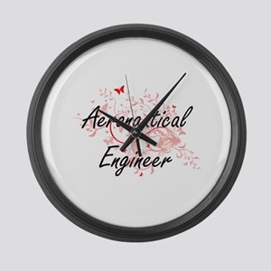 Aeronautical Engineer Artistic Jo Large Wall Clock
