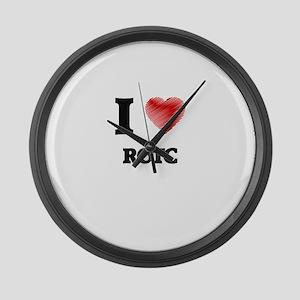 I Love Rotc Large Wall Clock