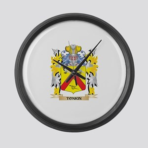 Tonkin Family Crest - Coat of Arm Large Wall Clock