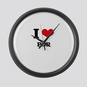 I Love Pop Large Wall Clock
