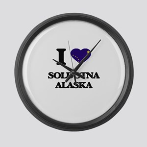 I love Soldotna Alaska Large Wall Clock