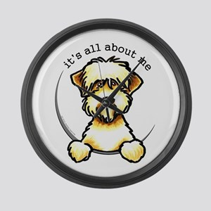 Funny Wheaten Terrier Large Wall Clock