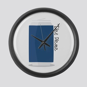 Diet Please Large Wall Clock