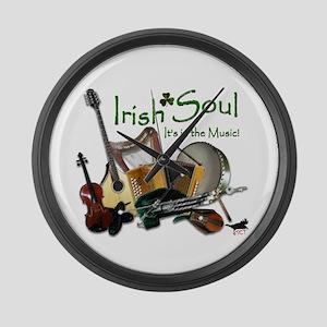 Irish Soul Music Large Wall Clock