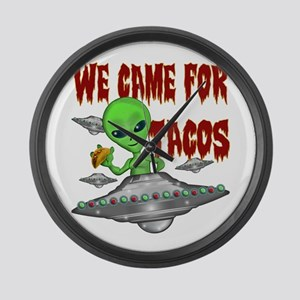 WE CAME FOR THE TACOS Large Wall Clock