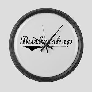 barbershop Large Wall Clock