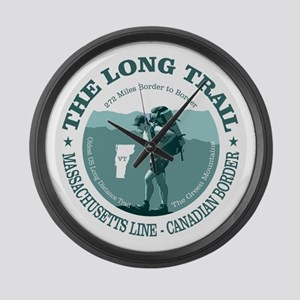 Long Trail (rd) Large Wall Clock