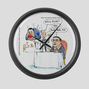 WildSteen Eats Christie Large Wall Clock