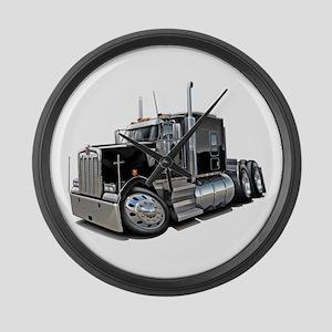 Kenworth W900 Black Truck Large Wall Clock