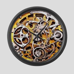 Steampunk Gears Large Wall Clock