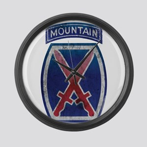 10th Mountain Division - Clim Large Wall Clock
