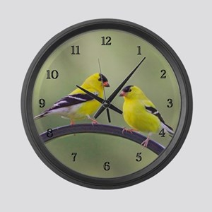 Gold Finch Large Wall Clock
