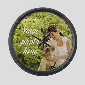 Your Photo Here Large Wall Clock