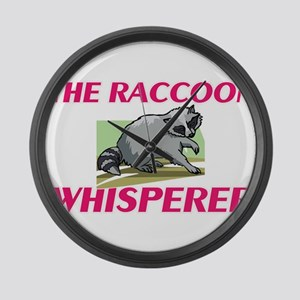 The Raccoon Whisperer Large Wall Clock