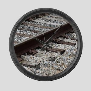 Railroad Track Large Wall Clock