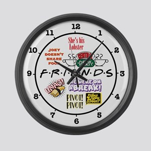 Friends Quotes Large Wall Clock