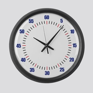Swim Pace Large Wall Clock