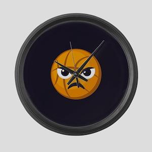 Basketball Frown Emoji Large Wall Clock