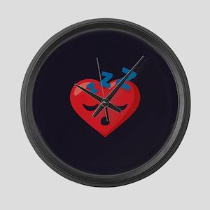 Heart Sleeping Emoji Large Wall Clock