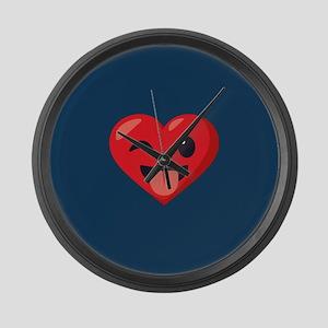 Heart Joking Emoji Large Wall Clock