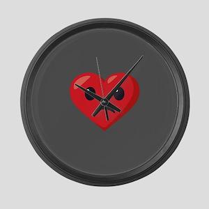 Heart Frowning Emoji Large Wall Clock