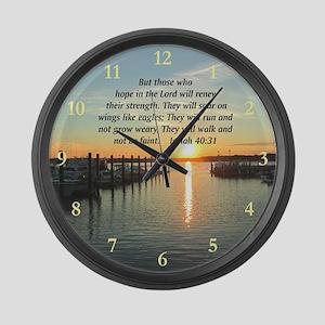 ISAIAH 40:31 Large Wall Clock