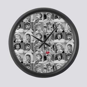 I Love Lucy Face Collage Large Wall Clock
