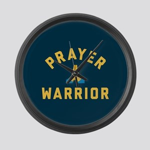 Emoji Prayer Warrior Large Wall Clock
