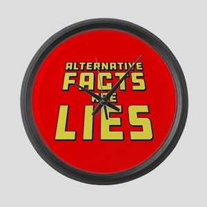 Alternative Facts Are Lies Large Wall Clock