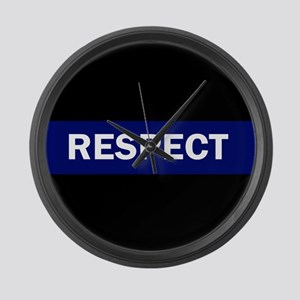 RESPECT BLUE Large Wall Clock