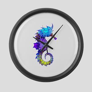 Sigmund Seahorse Large Wall Clock