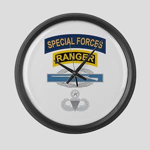 SF Ranger CIB Airborne Master Large Wall Clock
