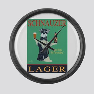 Schnauzer Lager Large Wall Clock