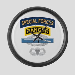SF Ranger CIB Airborne Large Wall Clock